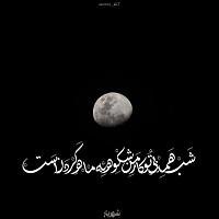تصاویر نگارخانه متن نگار , شب همه بیتو کار من شکوه به ماه کردنست... #شهریار