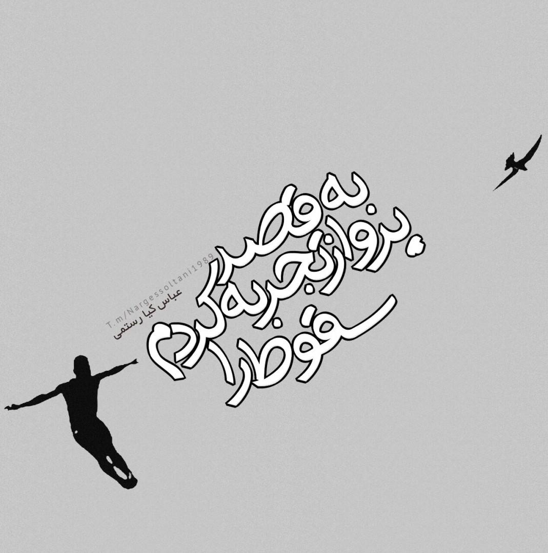 نرگس سلطانی ✅ - به قصد پرواز  تجربه كردم  سقوط را #عباس_كيارستمی