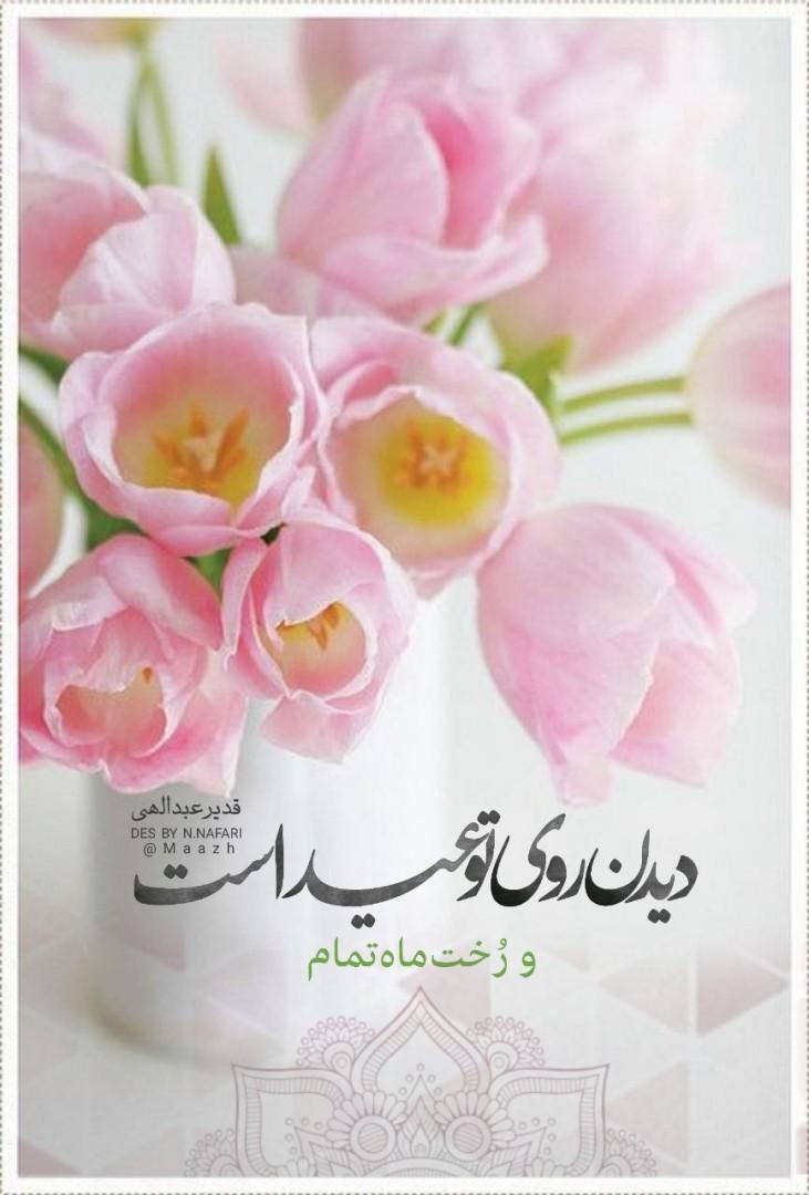 نرجس نفری🦋 ✅ - دیدن روی «تو» عید است... و رُخـت مـاهِ تمـام  #قدیر_عبدالهی