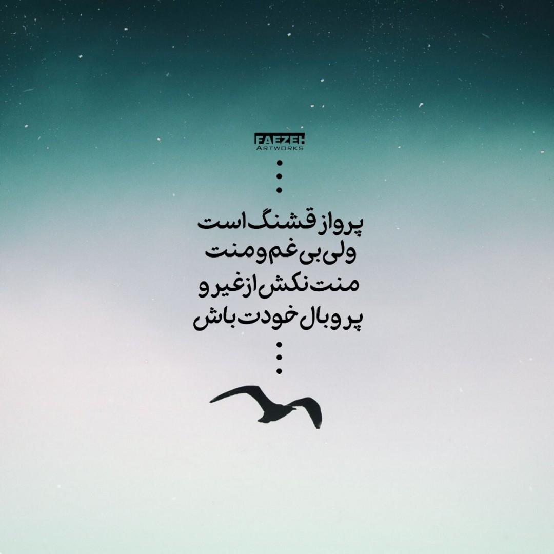 Faezeh_artworks - پرواز قشنگ است ولی بی غم و منت... #اقبال_لاهوری