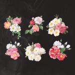 مجموعه برچسب گل