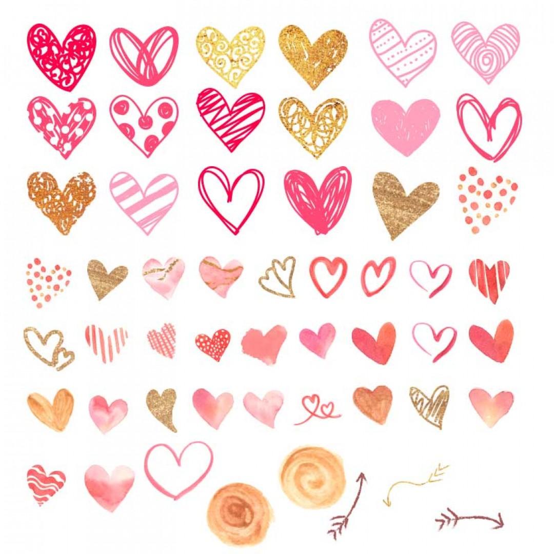 مجموعة ملصقات القلب