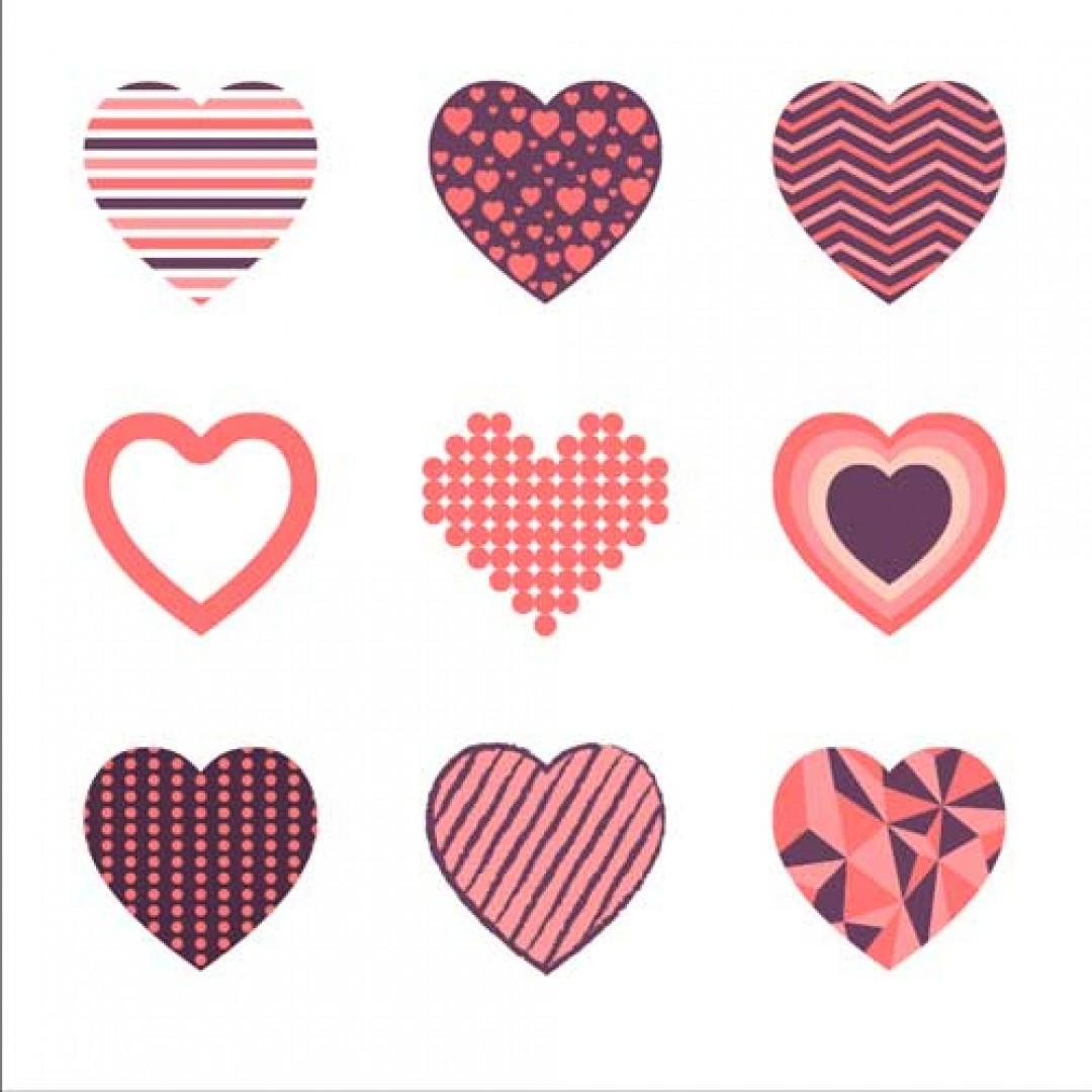 مجموعه برچسب قلب 3