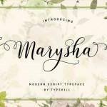 فونت انگلیسی Marysha