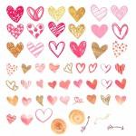 مجموعه برچسب قلب
