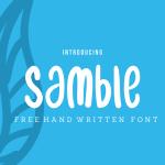 فونت انگلیسی Samble