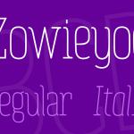 فونت انگلیسی Zowieyoe