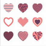Heart label set 3
