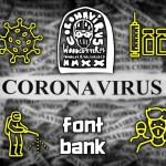 Font symbol of corona virus